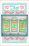 You and Me Table Top Display Embroidery Design CD