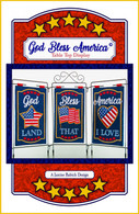 God Bless America Table Top Display Embroidery Design CD