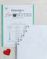 Love Notes for Machine Embroidery CD