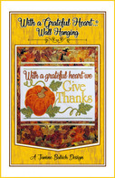 Grateful Heart Wall Hanging Embroidery Design CD
