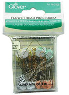 Flower Head Pins 4 Colors Size 32 - 2in 100ct