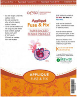 Applique Fuse & Fix Cut Away Stabilizer Sheets 10in x 8in