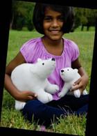 Flurry & Fluff Stuffed Felt Polar Bears