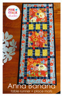 Anna Banana Table Runner + Place Mats Pattern