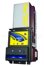 Factory Refurbished MDB Apex Bill Acceptor (Multi-Drop Bus) with 500-Bill Cassette, Part No. 7400-UB4-USA