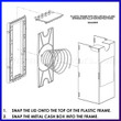 02AA0005 Plastic Cashbox Frame with Rollers for Apex Installation Exploded View