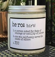 Hero candle
