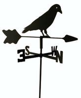 TLS1048IN Black Crow Garden Style inground Weathervane