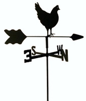 TLS1025IN Hen Chicken Garden Style inground Weathervane