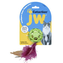 JW Pet Feather Ball & Bell  - Cat Toy