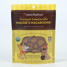 CocoTherapy Maggies Macaroons Coconut Lemoncello treats for Dogs 4 oz