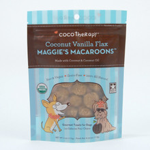 CocoTherapy Maggies Macaroons Coconut Vanilla Flax treats for Dogs 4 oz