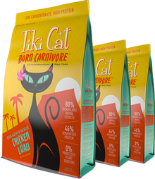 Tiki Cat Born Carnivore Chicken Luau
