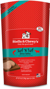 Stella & Chewy's Surf 'N Turf Dinner Patties Raw Frozen Dog Food