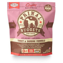 Primal Turkey-Sardine Nuggets 3lb