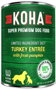 KOHA Turkey Dog Food 13oz