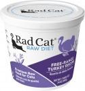 Rad Cat Free- Range Turkey Raw Food 8oz