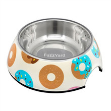 Go Nuts (Multicoloured Donuts) Easy Feeder Bowl