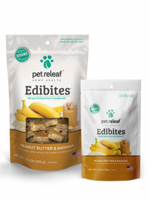 Pet Releaf Edibites Peanut Butter Banana CBD