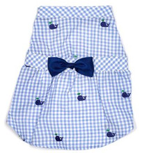 Gingham Whales Dress