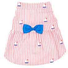 Red Stripe Sailboat Dress