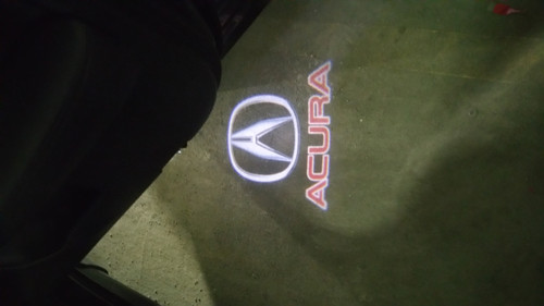 Acura LED Car Welcome Projector Courtesy Logo Lights (No Drilling)