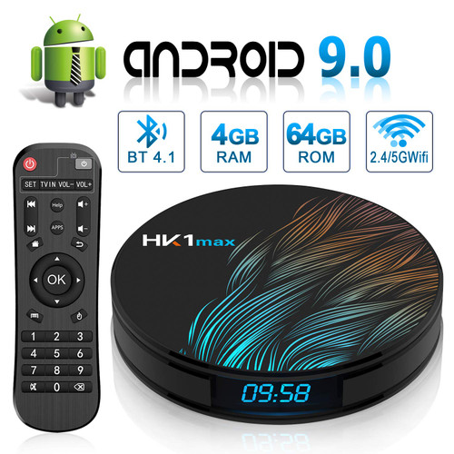 TronicsCity Newest Genuine HK1 Max Android 9.0 4K TV Media Player DDR4 4GB RAM & 64GB Storage