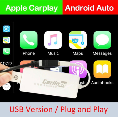 All In One Smart Link USB Dongle to Add Apple Carplay & Android Auto to Any Android Head Unit