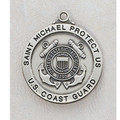 Coast Guard Sterling Silver St. Michael Medal
