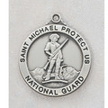 National Guard Sterling Silver St. Michael Medal