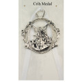 Guardian Angel Crib Medal - White