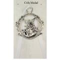 Guardian Angel Crib Medal - White