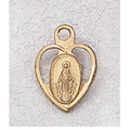 "Gold Plated Sterling Silver Miraculous Medal with 13"" Chain & Box"