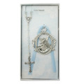 Guardian Angel Crib Medal with Blue Rosary