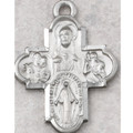 """Pewter 4 Way Medal with 24"""" Chain in Gift Box"""
