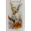 Pewter St. Michael Medal with Chain & St. Michael Prayer Card