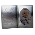 Silver Girl Blessing Baby Plaque