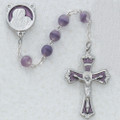 7mm Frosted Lavender Rosary