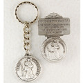 St. Christopher Key Ring & Visor Clip Set