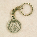 Sacred Heart Key Ring Pewter in Gift Box