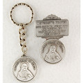 Sacred Heart Key Ring & Visor Clip Set