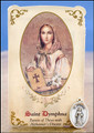 St Dymphna (Alzheimer's Disease) Healing Holy Card with Medal