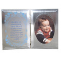 Silver Boy Prayer Baby Plaque
