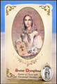St Dymphna (Emotional Disorders) Healing Holy Card with Medal