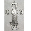 Pewter Baptism Cross 6""