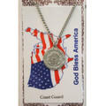 PEWTER COAST GUARD MEDAL W/PRAYER CARD