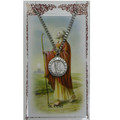 St. Peter Pewter Medal and Holy Card