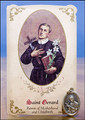 St. Gerard (Motherhood and Childbirth) Healing Holy Card with Medal