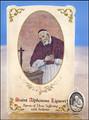 St Alphonsus Liguori (Arthritis) Healing Holy Card with Medal