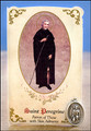 St Peregrine (Skin Ailments) Healing Holy Card with Medal